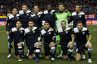 Lazio's team photo during Europa League match.February 23,2012. (ALTERPHOTOS/Acero) .Atletico Madrid Lazio Europa League.Italy Only