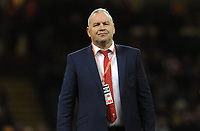 Wales Head Coach Wayne Pivac during the pre match warm up<br /> <br /> Photographer Ian Cook/CameraSport<br /> <br /> 2019 Autumn Internationals - Wales v Barbarians - Saturday 30th November 2019 - Principality Stadium - Cardifff<br /> <br /> World Copyright © 2019 CameraSport. All rights reserved. 43 Linden Ave. Countesthorpe. Leicester. England. LE8 5PG - Tel: +44 (0) 116 277 4147 - admin@camerasport.com - www.camerasport.com