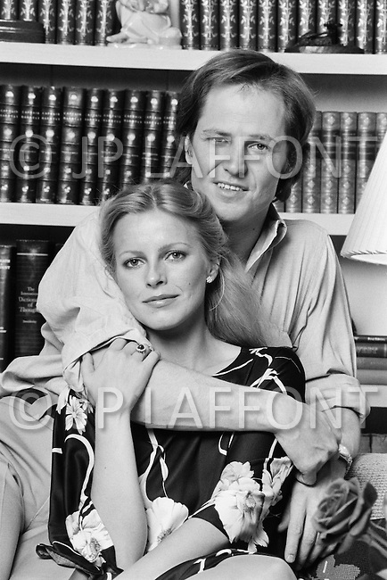July 1979, Hollywood, Los Angeles, California, USA. American producer David Ladd, the son of actress and agent Sue Carol with his wife, actress Cheryl Ladd at home in Hollywood. Image by © JP Laffont