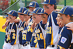 Montoursville Little League players pose with medals after winning District 12 Majors Championship at Volunteer Stadium.