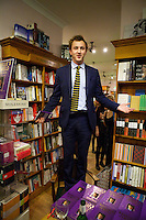 Francis Boulle gives a speech at his book launch