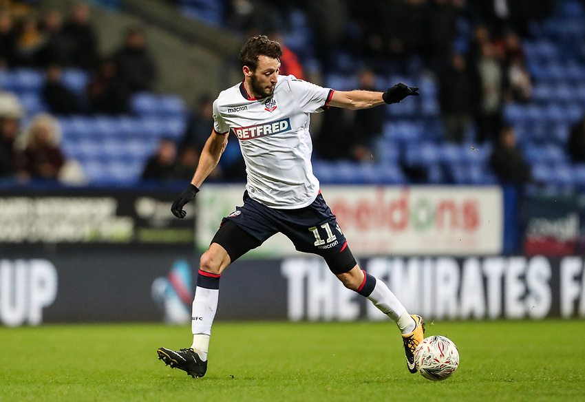 Bolton Wanderers' Will Buckley<br /> <br /> Photographer Andrew Kearns/CameraSport<br /> <br /> Emirates FA Cup Third Round - Bolton Wanderers v Walsall - Saturday 5th January 2019 - University of Bolton Stadium - Bolton<br />  <br /> World Copyright © 2019 CameraSport. All rights reserved. 43 Linden Ave. Countesthorpe. Leicester. England. LE8 5PG - Tel: +44 (0) 116 277 4147 - admin@camerasport.com - www.camerasport.com