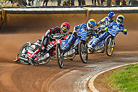 Heat 3 Nicoloai Klindt of Poole Pirates leads during Poole Pirates vs King's Lynn Stars, SGB Premiership Shield Speedway at The Stadium on 11th April 2019