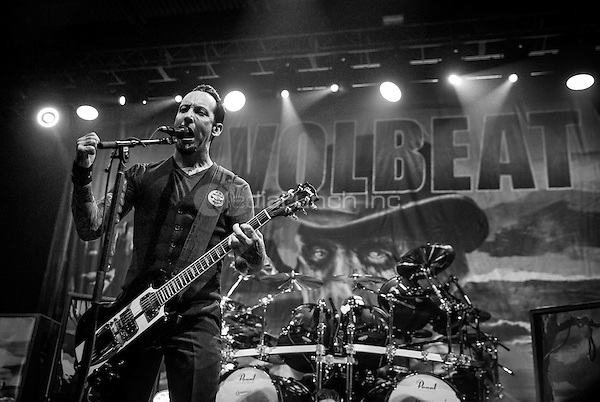 LAS VEGAS, NV - April 14, 2016: ***HOUSE COVERAGE*** VOLBEAT performs at The Joint at Hard Rock Hotel & Casino in Las vegas, NV on April 14, 2016. Credit: Erik Kabik Photography/ MediaPunch