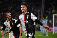 Paulo Dybala of Juventus celebrates after scoring the winning goal of 1-0 <br /> Torino 26/11/2019 Juventus Stadium <br /> Football Champions League 2019//2020 <br /> Group Stage Group D <br /> Juventus - Atletico Madrid <br /> Photo Andrea Staccioli / Insidefoto
