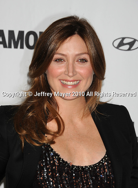 LOS ANGELES, CA. - October 25: Sasha Alexander  attends the 5th Anniversary Of Glamour Reel Moments on October 25, 2010 in Los Angeles, California.