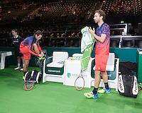 ABN AMRO World Tennis Tournament, Rotterdam, The Netherlands, 17 Februari, 2017, Matwe Middelkoop (NED), Wesley Koolhof (NED)<br /> Photo: Henk Koster