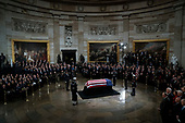 WASHINGTON, DC - DECEMBER 3 : Former president George H.W. Bush lies in State at the U.S. Capitol Rotunda on Capitol Hill on Monday, Dec. 03, 2018 in Washington, DC. (Photo by Jabin Botsford/Pool)