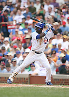 Felix Pie of the Chicago Cubs vs. the San Diego Padres: June 18th, 2007 at Wrigley Field in Chicago, IL.  Photo by Mike Janes/Four Seam Images