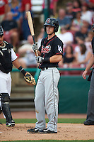 Great Lakes Loons shortstop Nick Dean (5) at bat during a game against the Kane County Cougars on August 13, 2015 at Fifth Third Bank Ballpark in Geneva, Illinois.  Great Lakes defeated Kane County 7-3.  (Mike Janes/Four Seam Images)