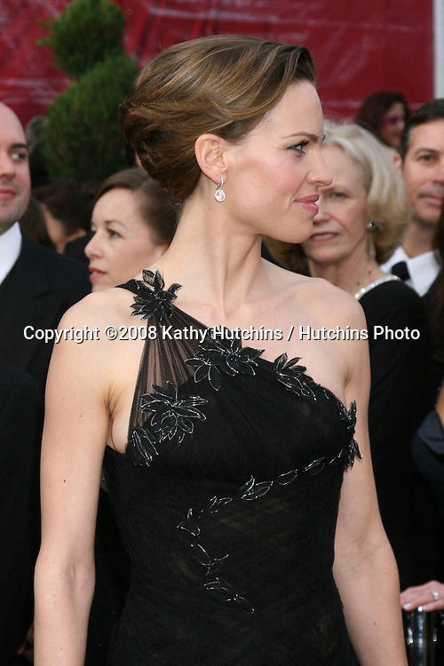 Hillary Swank.80th Academy Awards ( Oscars).Kodak Theater.Los Angeles, CA.February 24, 2008.©2008 Kathy Hutchins / Hutchins Photo.