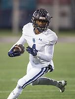 NWA Democrat-Gazette/BEN GOFF @NWABENGOFF<br /> Jay Burns, Springdale Har-Ber running back, carries in the first quarter vs Fayetteville Friday, Nov. 8, 2019, at Harmon Stadium in Fayetteville.