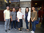 Central Academy of Drama: Professors Wen Chen, Zhiyong Liu, Yanping Ma, Xuejiao Bai and Zhenzhu Ma Visit Sardi's on September 24, 2017 at the Drama League Center  in New York City.