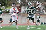 Palos Verdes, CA 04/20/10 - Tony Romeri (Palos Verdes #8) and Austin Hafdell (Mira Costa #11) in action during the Mira Costa-Palos Verdes boys lacrosse game.