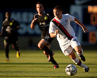 Manchester City defender Kieran Trippler during a match at Merlo Field in Portland Oregon on July 17, 2010.