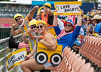 Fans on day one of the 2019 HSBC World Sevens Series Hamilton  at FMG Stadium in Hamilton, New Zealand on Saturday, 26 January 2018. Photo: Peter Meecham / lintottphoto.co.nz