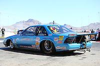 Apr 11, 2015; Las Vegas, NV, USA; NHRA super gas driver Clint Fishel  during qualifying for the Summitracing.com Nationals at The Strip at Las Vegas Motor Speedway. Mandatory Credit: Mark J. Rebilas-