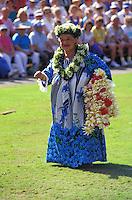 Auntie Maddie performing a hula the the Kodak Hula show, Waikiki, Oahu