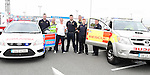 Dearbhla Clarke from the Red Cross and Mark Bannon, David Tiernan, Earl Gorman, Robert English, Sean Tester and Colm Farrell from Boyne Fishermens Rescue and Recovery at the Community Fund Launch held at Tesco car park.Photo:Colin Bell/pressphotos.ie