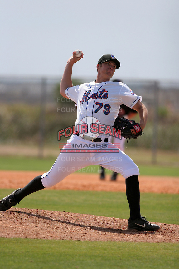 New York Mets minor leaguer Steven Cheney during Spring Training at the Carl Barger Training Complex on March 20, 2007 in Melbourne, Florida.  (Mike Janes/Four Seam Images)