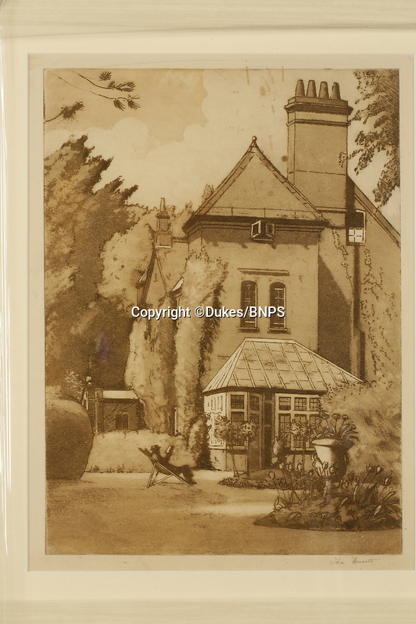 BNPS.co.uk (01202 558833)<br /> Pic: Dukes/BNPS<br /> <br /> Max Gate, the home Hardy built for himself outside Dorchester (Casterbridge), £350.<br /> <br /> Art work depicting real-life scenes from author Thomas Hardy's Wessex are being displayed for the first time in almost 100 years after they were found in the bottom of a trunk.<br /> <br /> The 37 pictures of locations immortalised in the Victorian writer's novels were created by artist John Everett.<br /> <br /> In 1924 the English painter travelled around 'Hardy Country' and produced small oil sketches for a book that was never published.<br /> <br /> The pictures were tossed into a chest and were recently found by art historian Gwen Yarker.