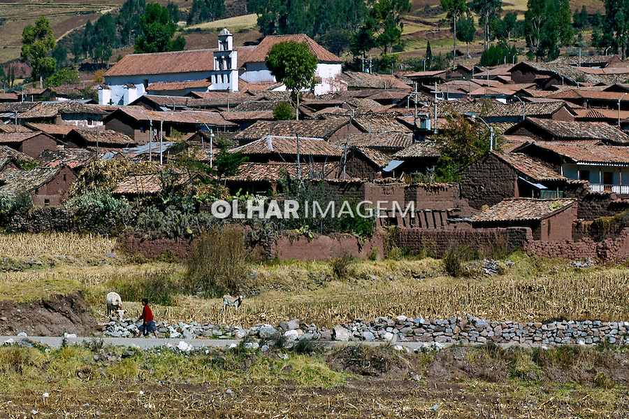 Vilarejo no vale sagrado dos Incas, Cusco. Peru. 2005. Foto de Luciana Whitaker.