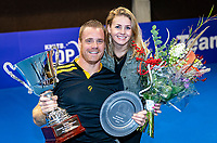 Alphen aan den Rijn, Netherlands, December 22, 2019, TV Nieuwe Sloot,  NK Tennis, Wheelchair men single final: Winner Maikel Scheffers (NED) celebrates his win with his girlfriend<br /> Photo: www.tennisimages.com/Henk Koster