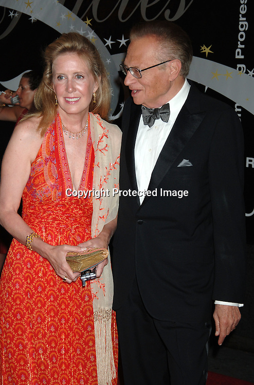Wendy Walker and Larry King..arriving at The 31st Annual American Women in Radio & Television's Gracie Allen Awards on June 19, 2006 at..The Marriott Marquis Hotel. ..Robin Platzer, Twin Images