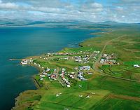 Búðardalur séð til norðausturs, Dalabyggð áður Laxárdalshreppur / Budardalur viewing northeast, Dalabyggd former Laxardalshreppur.