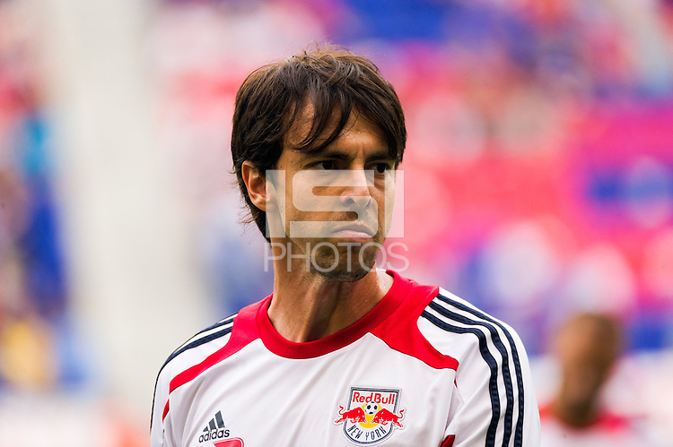 Digao (13) of the New York Red Bulls during warmups prior to playing the  of the Chicago Fire. The Chicago Fire defeated the New York Red Bulls 2-0 during a Major League Soccer (MLS) match at Red Bull Arena in Harrison, NJ, on October 06, 2012.