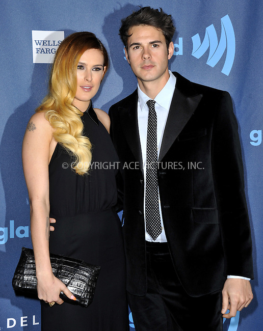 WWW.ACEPIXS.COM......April 20, 2013, Los Angeles, CA.....Rumer Willis and Jayson Blair arriving at the 24th Annual GLAAD Media Awards held at the JW Marriott Los Angeles at L.A. LIVE on April 20, 2013 in Los Angeles, California. ..........By Line: Peter West/ACE Pictures....ACE Pictures, Inc..Tel: 646 769 0430..Email: info@acepixs.com