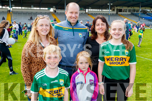 Jennifer, Eoghan, Eugene and Elizabeth Downing with Karen and Susan Torpey, enjoying the Kerry Team Open Day Meet and Greet, at Fitzgerald Stadium, Killarney on Saturday last.