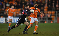 Blackpool's Liam Feeney battles with Doncaster Rovers' Matty Blair<br /> <br /> Photographer Dave Howarth/CameraSport<br /> <br /> The EFL Sky Bet League One - Blackpool v Doncaster Rovers - Tuesday 12th March 2019 - Bloomfield Road - Blackpool<br /> <br /> World Copyright &copy; 2019 CameraSport. All rights reserved. 43 Linden Ave. Countesthorpe. Leicester. England. LE8 5PG - Tel: +44 (0) 116 277 4147 - admin@camerasport.com - www.camerasport.com