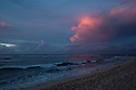 Sunset at Backyards on the Northshore of Oahu in Hawaii