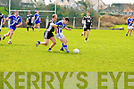 Niall Clifford (Ardfert) in action with Sean Cournane (St Mary's) in the County League Division 3 Round 2 at Ardfert GAA Grounds on Sunday.