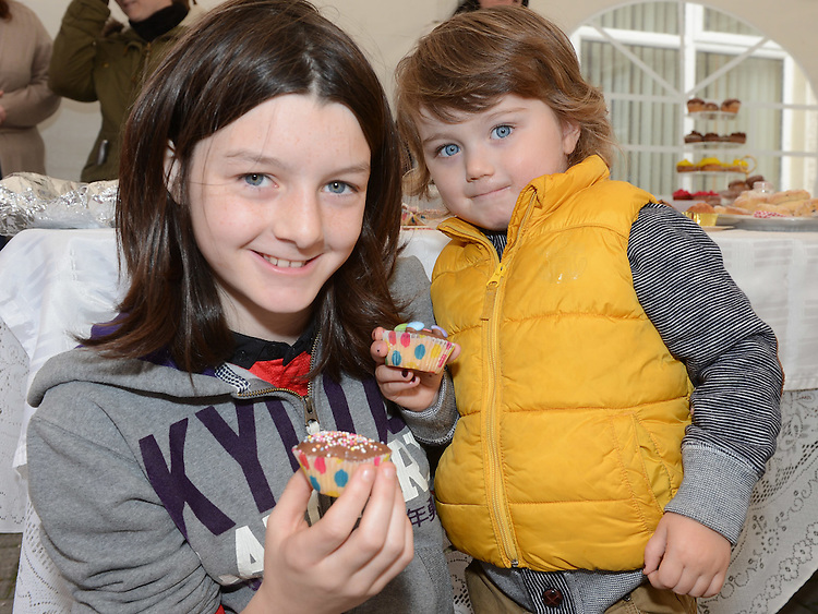 Aoibhinn Maguire and Ryhs Biddulph pictured at the Cheerios Breakfast Morning held at Bright Eyes Playgroup in Laytown. Photo:Colin Bell/pressphotos.ie