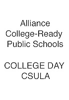 ALLIANCE College Day CSULA 2015