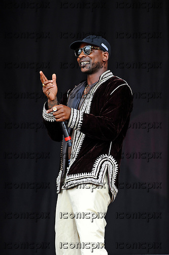 SKEPTA (Joseph Junior Adenuga) - performing live on the Pyramid Stage on Day One at the 2016 Glastonbury Festival at Worthy Farm Pilton  Somerset UK - 24 Jun 2016.  Photo credit:Zaine Lewis/IconicPix