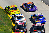 Denny Hamlin, Joe Gibbs Racing, Toyota Camry FedEx Ground and Ryan Blaney, Team Penske, Ford Fusion Menards/Libman