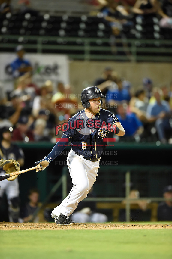 ***Temporary Unedited Reference File***San Antonio Missions designated hitter Taylor Lindsey (8) during a game against the Midland RockHounds on April 21, 2016 at Nelson W. Wolff Municipal Stadium in San Antonio, Texas.  Midland defeated San Antonio 9-2.  (Mike Janes/Four Seam Images)