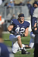 17 November 2012:  Penn State LB Michael Mauti (42) injured his knee during the first half.  The Penn State Nittany Lions vs. the Indiana Hoosiers at Beaver Stadium in State College, PA.