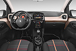 Stock photo of straight dashboard view of a 2014 Peugeot 108 Allure 5 Door Micro Car 2WD Dashboard