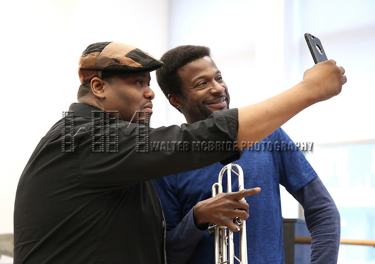 "Juson Williams and Yamin Mustafa During the Open Rehearsal for the Miami New Drama's World Premiere Musical  ""A Wonderful World"" at the Ripley-Grier Studios on January 26, 2020 in New York City."