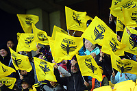 Fans in the grandstand during the A-League football match between Wellington Phoenix and Western Sydney Wanderers at Westpac Stadium in Wellington, New Zealand on Saturday, 3 November 2018. Photo: Dave Lintott / lintottphoto.co.nz