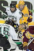 Travis Zajac, Zach Jones, Ryan Stoa, Phil Kessel - The University of Minnesota Golden Gophers defeated the University of North Dakota Fighting Sioux 4-3 on Friday, December 9, 2005, at Ralph Engelstad Arena in Grand Forks, North Dakota.