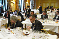 Professional Wine tasting at hotel George V, Paris.