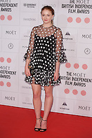 Sophie Turner arriving for the Moet British Independent Film Awards 2014, London. 07/12/2014 Picture by: Alexandra Glen / Featureflash