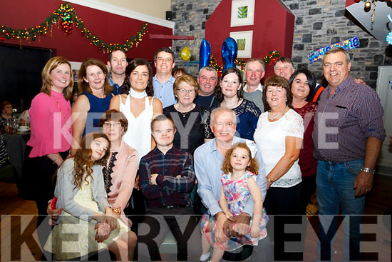 JP O'Brien of Kilfynn seated front centre with his family and friends who celebrated his 18th birthday in O'Donnell's Bar, Tralee on Saturday last.