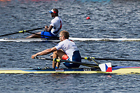 Sarasota. Florida USA. Men's Single Sculls. Medalist.  Silver Medalist. CUB M1X. FOURNIER RODRIGUEZ, Angel,  Gold Medalist, CZE M1X. SYNEK, Ondrej,  Sunday Final's Day at the  2017 World Rowing Championships, Nathan Benderson Park<br /> <br /> Sunday  01.10.17   <br /> <br /> [Mandatory Credit. Peter SPURRIER/Intersport Images].<br /> <br /> <br /> NIKON CORPORATION -  NIKON D4S  lens  VR 500mm f/4G IF-ED mm. 200 ISO 1/640/sec. f 8