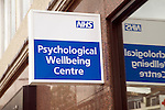 NHS Psychological Wellbeing Centre sign